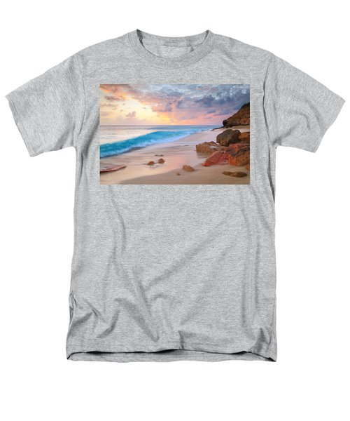 Cupecoy Beach Sunset Saint Maarten Men's T-Shirt  (Regular Fit) by Roupen  Baker