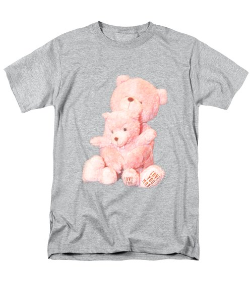 Men's T-Shirt  (Regular Fit) featuring the photograph Cutout Hugging Bears by Linda Phelps