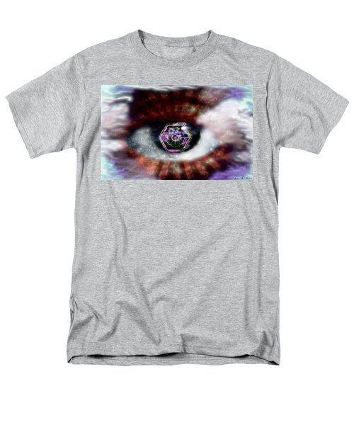 Men's T-Shirt  (Regular Fit) featuring the digital art Cyber Oculus Cumulus by Iowan Stone-Flowers