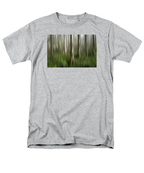 Cypress Tress Digital Abstracts Motion Blur Men's T-Shirt  (Regular Fit) by Rich Franco
