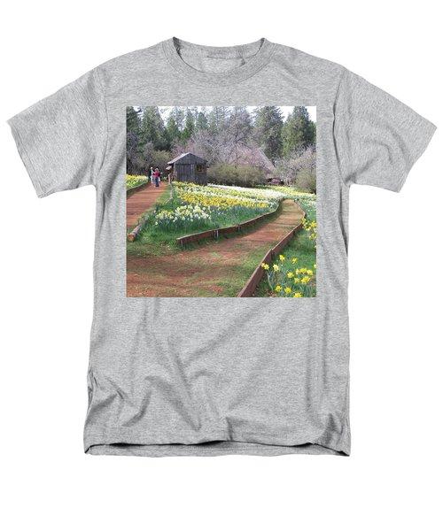 Daffodil Hill Pathway Men's T-Shirt  (Regular Fit) by Karen J Shine