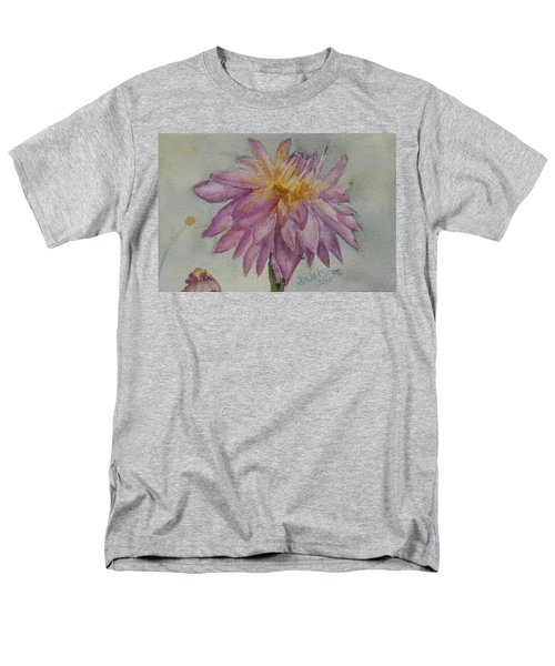 Men's T-Shirt  (Regular Fit) featuring the painting Dahlia At Eastport Me by Donna Walsh