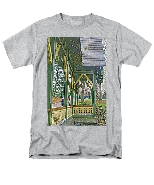 Men's T-Shirt  (Regular Fit) featuring the photograph Dairy Cottage Porch by Sandy Moulder