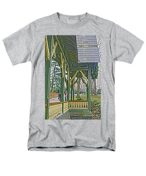 Dairy Cottage Porch Men's T-Shirt  (Regular Fit) by Sandy Moulder