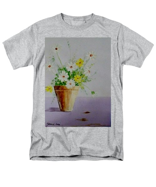 Men's T-Shirt  (Regular Fit) featuring the painting Daisies In Pot by Jamie Frier