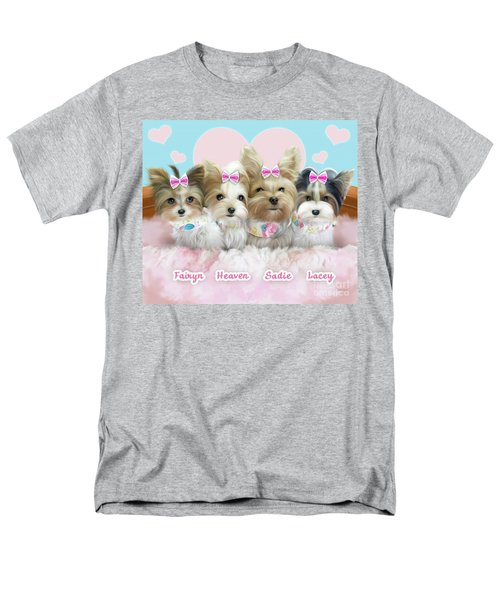 Davidson's Furbabies Men's T-Shirt  (Regular Fit) by Catia Cho