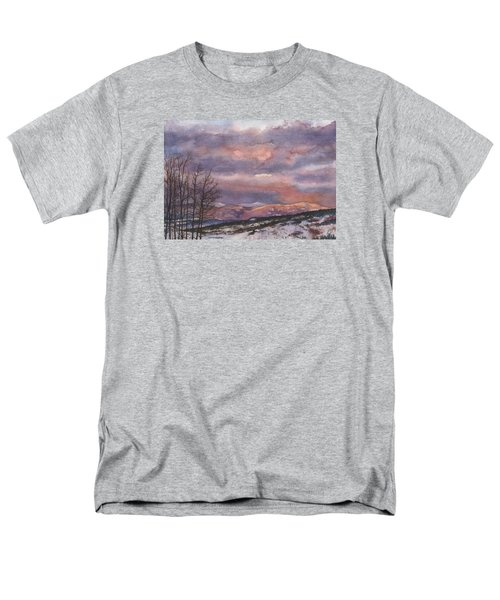 Men's T-Shirt  (Regular Fit) featuring the painting Daylight's Last Blush by Anne Gifford