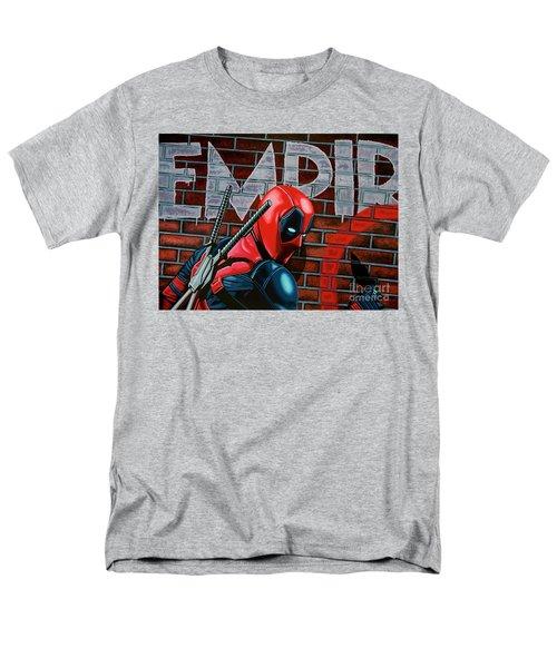 Deadpool Painting Men's T-Shirt  (Regular Fit) by Paul Meijering