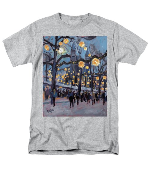 December Lights At The Our Lady Square Maastricht 1 Men's T-Shirt  (Regular Fit) by Nop Briex