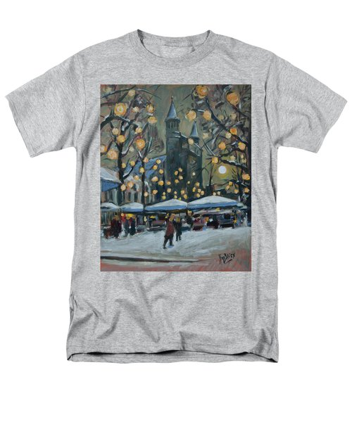 December Lights At The Our Lady Square Maastricht 2 Men's T-Shirt  (Regular Fit) by Nop Briex