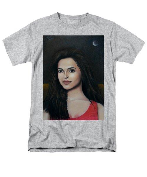 Deepika Padukone - The Enigmatic Expression Men's T-Shirt  (Regular Fit) by Vishvesh Tadsare