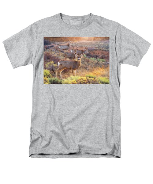 Men's T-Shirt  (Regular Fit) featuring the photograph Deer In The Sunlight by Darren White