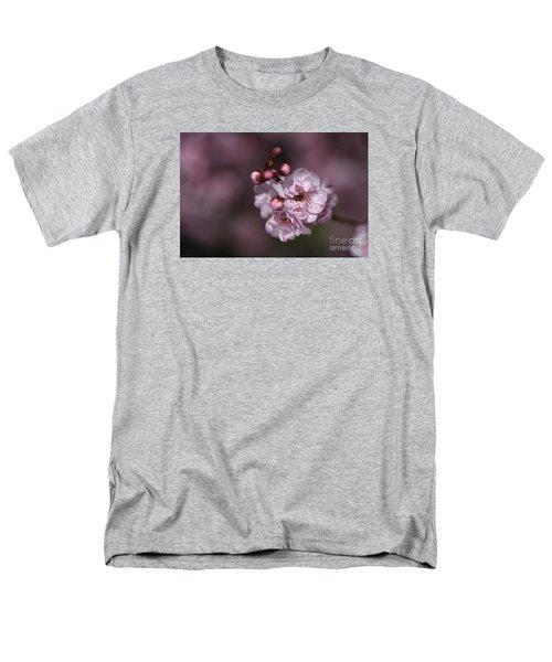 Delightful Pink Prunus Flowers Men's T-Shirt  (Regular Fit) by Joy Watson