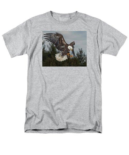 Descending Eagle Men's T-Shirt  (Regular Fit) by CR  Courson