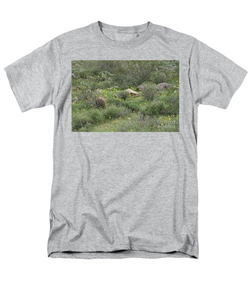 Men's T-Shirt  (Regular Fit) featuring the photograph Desert Wildflowers by Anne Rodkin