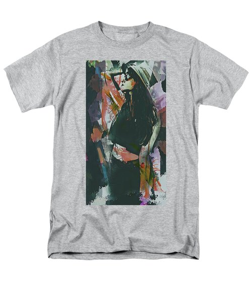 Men's T-Shirt  (Regular Fit) featuring the digital art Destinations Abstract Portrait by Galen Valle
