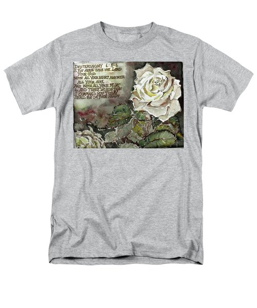 Men's T-Shirt  (Regular Fit) featuring the painting Deuteronomy 6 by Mindy Newman