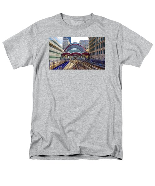 Dlr Canary Wharf And Approaching Train Men's T-Shirt  (Regular Fit) by Venetia Featherstone-Witty