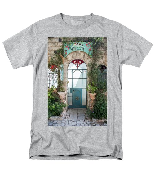 Men's T-Shirt  (Regular Fit) featuring the photograph Door Entrance To The Art by Yoel Koskas