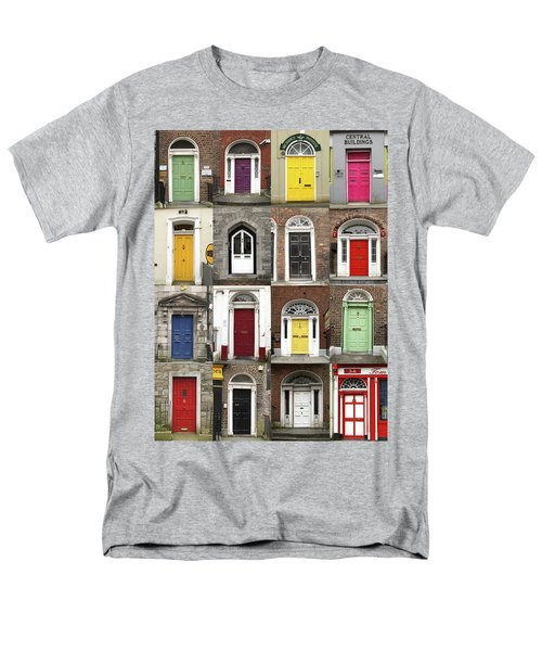 Men's T-Shirt  (Regular Fit) featuring the photograph Doors Of Limerick by Marie Leslie