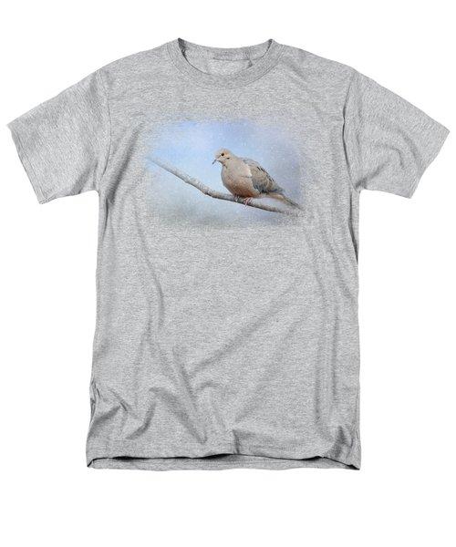 Dove In The Snow Men's T-Shirt  (Regular Fit) by Jai Johnson