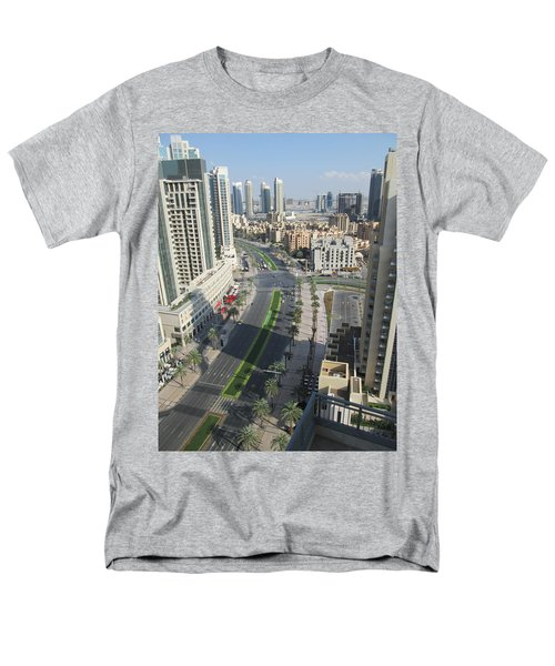 Men's T-Shirt  (Regular Fit) featuring the photograph Downtown Dubai by Marie Neder