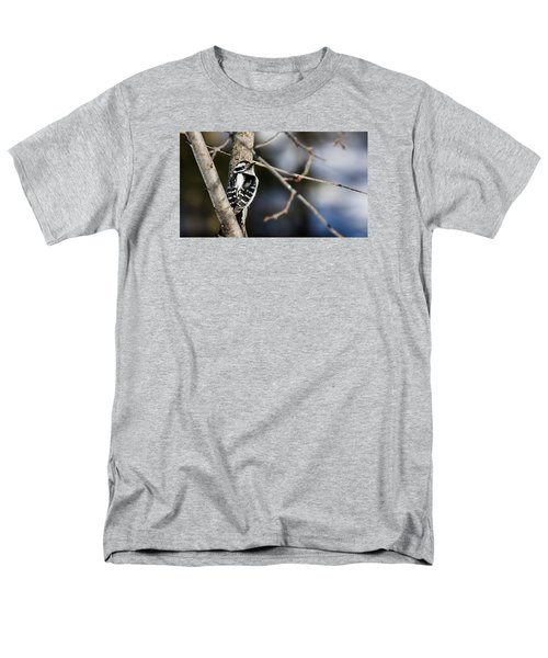 Downy Woodpecker Men's T-Shirt  (Regular Fit) by Dan Traun
