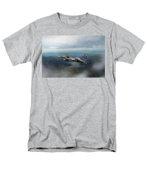 Men's T-Shirt  (Regular Fit) featuring the digital art Dragonfly Special Operations by Peter Chilelli