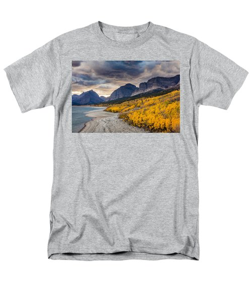 Dramatic Sunset Sky In Autumn  Men's T-Shirt  (Regular Fit) by Pierre Leclerc Photography
