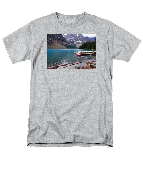 Moraine Lake, Ab  Men's T-Shirt  (Regular Fit) by Heather Vopni