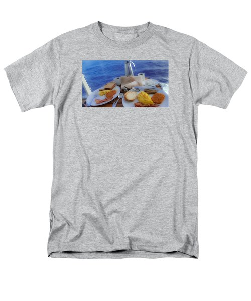 Men's T-Shirt  (Regular Fit) featuring the photograph Dreaming Of Breakfast At Sea by DigiArt Diaries by Vicky B Fuller