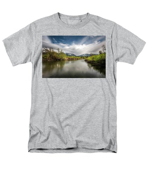 Men's T-Shirt  (Regular Fit) featuring the photograph Dreamy River Of Golden Dreams by Pierre Leclerc Photography