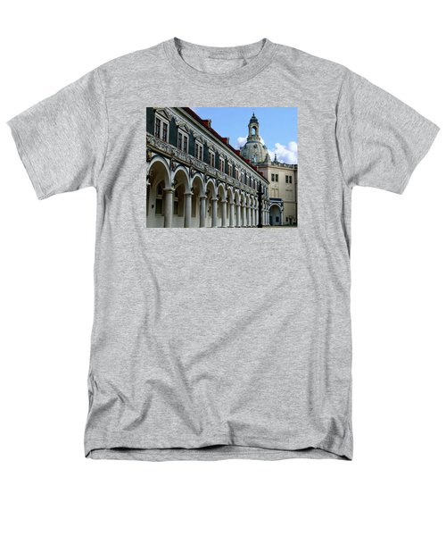 Dresden Courtyard And Palace Men's T-Shirt  (Regular Fit) by Anthony Dezenzio