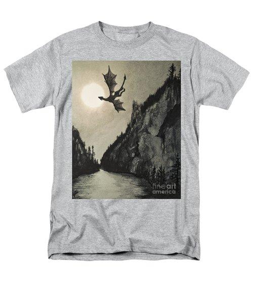 Men's T-Shirt  (Regular Fit) featuring the painting Drogon's Lair by Suzette Kallen