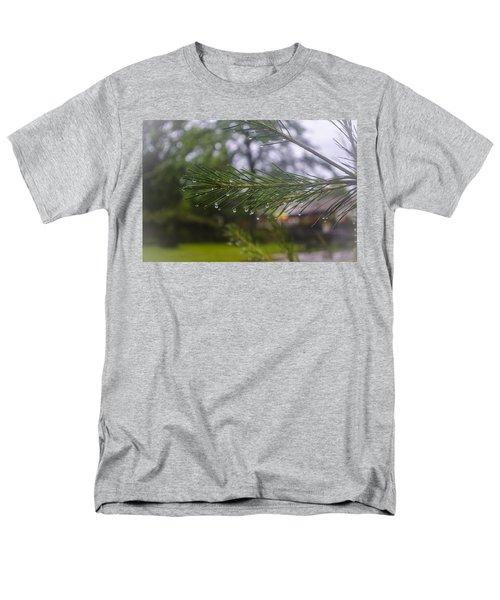 Men's T-Shirt  (Regular Fit) featuring the photograph Droplets On Pine Branch by Deborah Smolinske