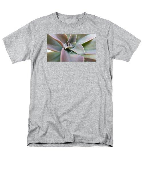 Droplets On Succulent Men's T-Shirt  (Regular Fit) by Ian Kowalski