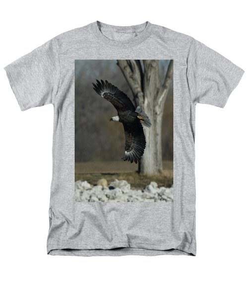 Men's T-Shirt  (Regular Fit) featuring the photograph Eagle Soaring By Tree by Coby Cooper