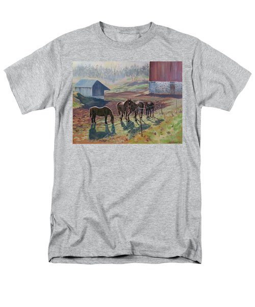 Early December At The Farm Men's T-Shirt  (Regular Fit) by David Gilmore