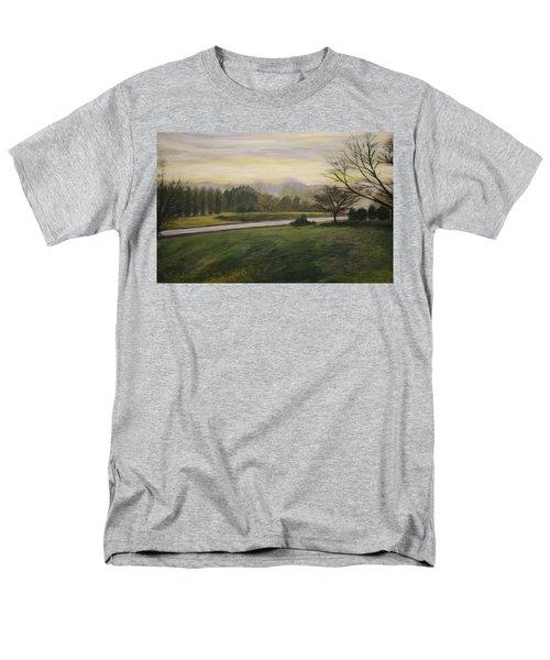 Early Spring On Ernie Lane Men's T-Shirt  (Regular Fit) by Ron Richard Baviello