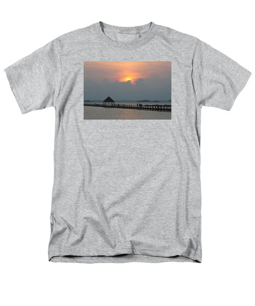 Men's T-Shirt  (Regular Fit) featuring the photograph Early Sunset Over The Gazebo by Robert Banach