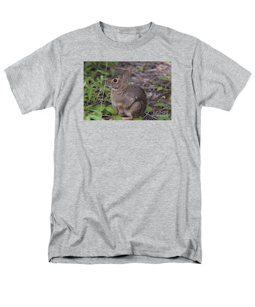 Men's T-Shirt  (Regular Fit) featuring the photograph Eastern Cottontail 20120624_11a by Tina Hopkins