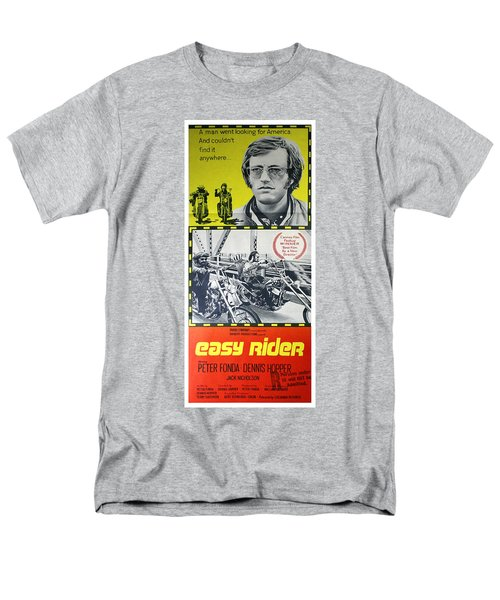 Easy Rider Movie Lobby Poster  1969 Men's T-Shirt  (Regular Fit) by Daniel Hagerman
