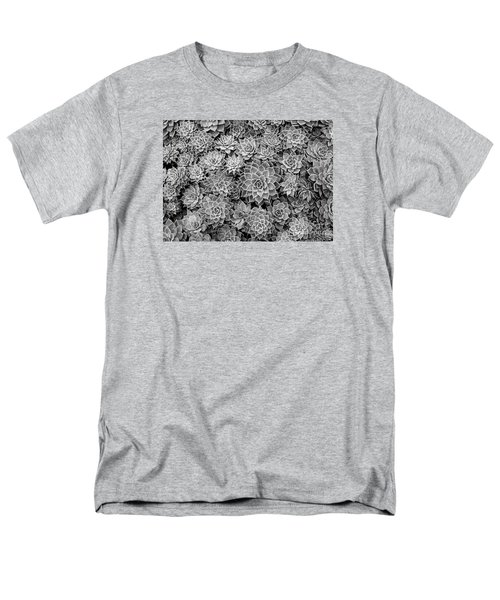 Men's T-Shirt  (Regular Fit) featuring the photograph Echeveria Monochrome by Ranjini Kandasamy