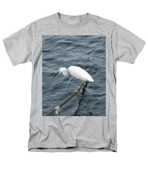 Men's T-Shirt  (Regular Fit) featuring the photograph Egret On The Munch by Margie Avellino