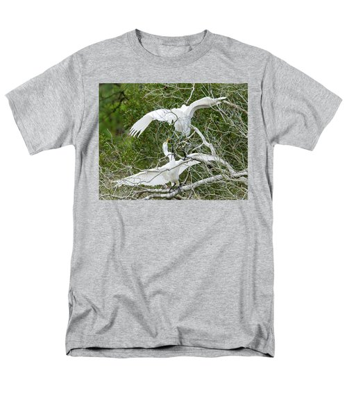 Men's T-Shirt  (Regular Fit) featuring the photograph Egret Rumble by George Randy Bass