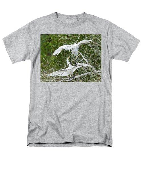 Egret Rumble Men's T-Shirt  (Regular Fit) by George Randy Bass