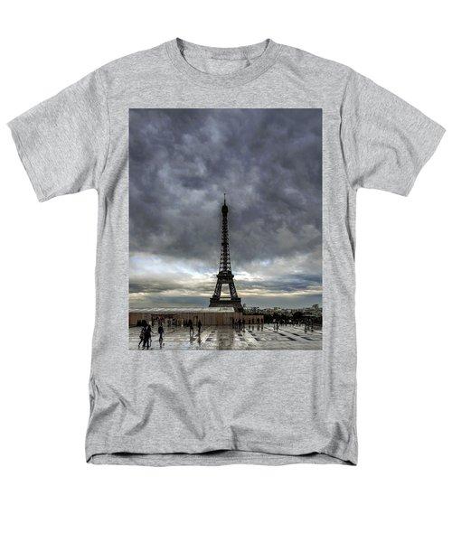 Men's T-Shirt  (Regular Fit) featuring the photograph Eiffel Tower Paris by Sally Ross