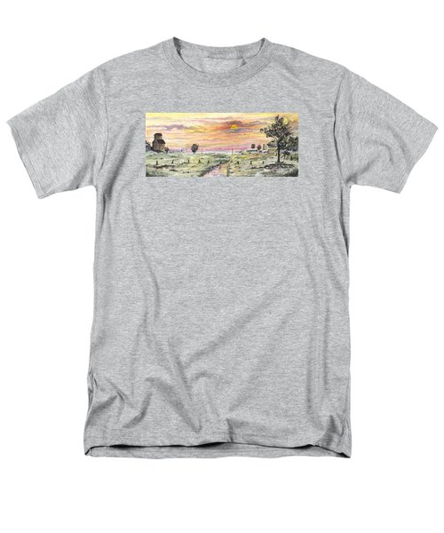 Men's T-Shirt  (Regular Fit) featuring the digital art Elevator In The Sunset by Darren Cannell