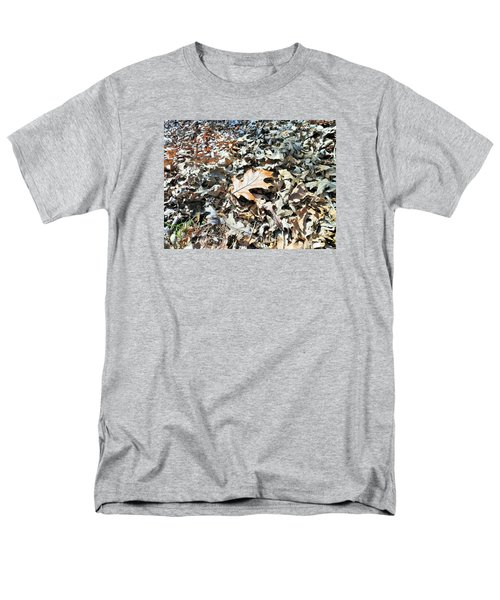 Men's T-Shirt  (Regular Fit) featuring the photograph Endurance Of A Leaf by Kay Gilley