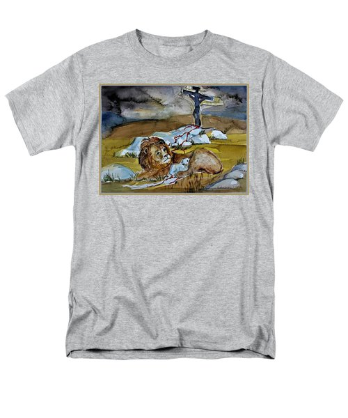 Men's T-Shirt  (Regular Fit) featuring the painting Ephesians 2 13 by Mindy Newman